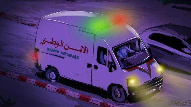 فضيحة : لص يتجول بسيارة الأمن بالدار البيضاء